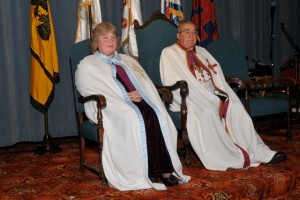 His Grace and the Grand Dame of the Order