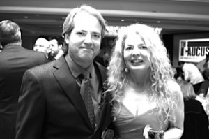 Graham Yost, Winner of Writers Awards, Best Known for Mega Hits: Speed, Broken Arrow, Hard Rain and currently the creator and executive producer of the hit series Justified photographed with Adrienne Papp