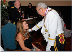 Adrienne Papp becomes Dame Adrienne Papp by the Duke of Belgium
