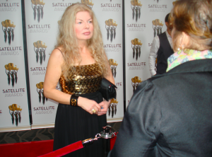 Adrienne Papp interviewed on the Red Carpet of the International Press Academy Gala Dinner, 2016