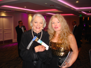 Adrienne Papp and Louise Fletcher at the 2016 Satellite Award, 2016