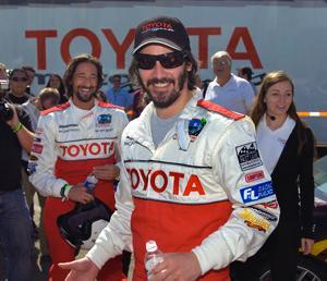 Keanu Reeves at the Toyota Race 2009