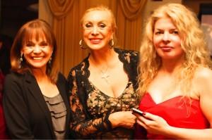 Valerie Harper, Sandra Costa and Adrienne Papp at the Caucus Gala Dinner , December 2012