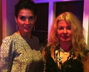 Adrienne Papp and Angie Harmon at the 2013 Gracie Award