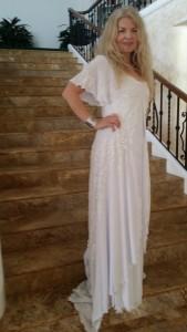 Adrienne Papp, Emmys 2015, Dress by Jessica Bazan