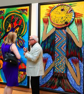 Gültekin Bilge Exhibition-Discussing Painting